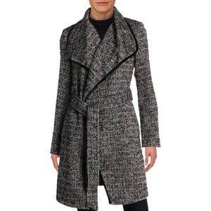 BCBGeneration Tweed Wrap Coat